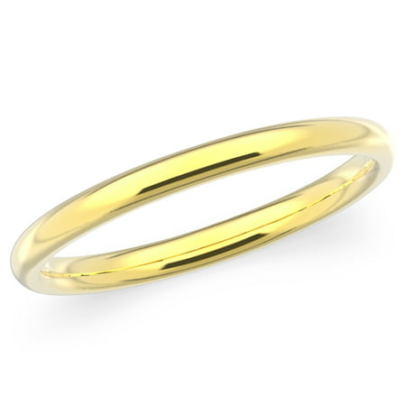 9822919201b716 White Star - 10K Solid Yellow Gold 2mm Plain Men's and Women's Wedding Band  Ring - Walmart.com
