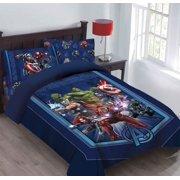 Marvel 4pc AVENGERS Showdown Bedding Set, Licensed Full Comforter W/Fitted Sheet And Pillowcases