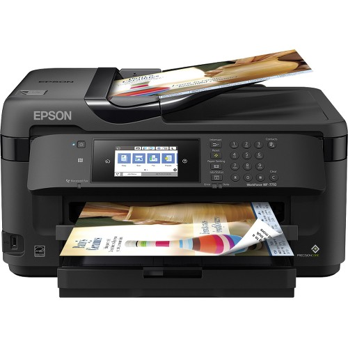 Epson WorkForce WF-7710 Wireless Wide-format Color Inkjet Printer with Copy, Scan, Fax, Wi-Fi Direct and Ethernet