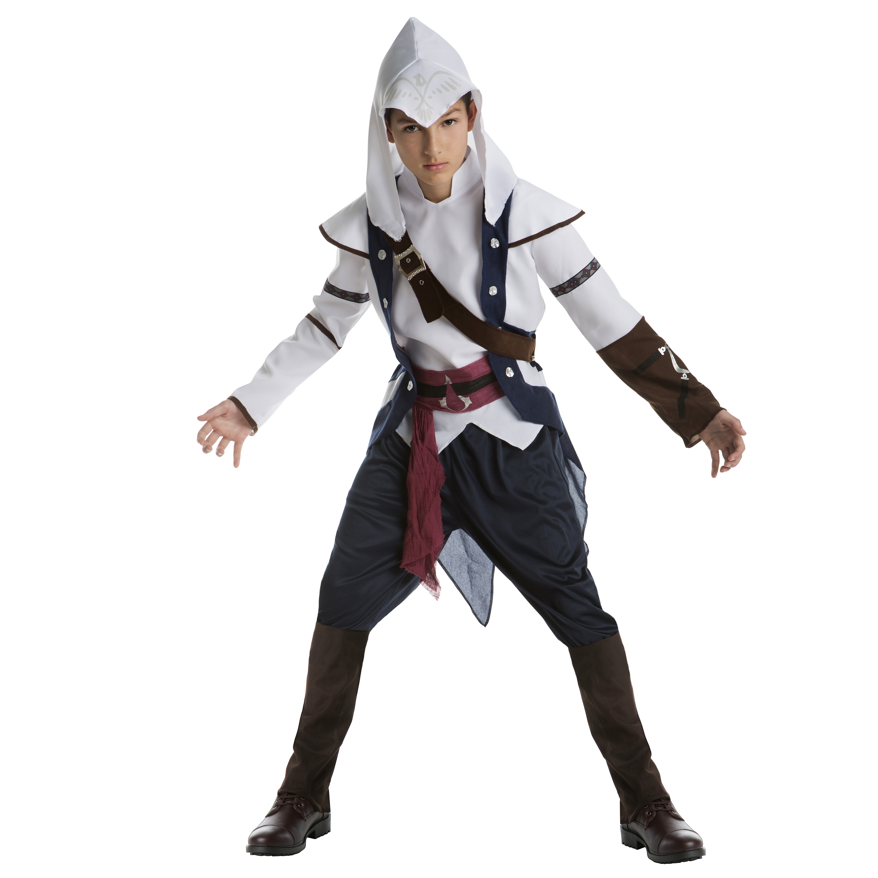 Boy Teen Assassinu0027s Creed Connor Classic Small Halloween Dress Up / Role Play Costume  sc 1 st  Walmart & Teen Boysu0027 Halloween Costumes