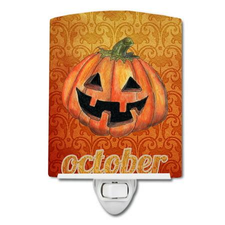 October Pumpkin Halloween Ceramic Night Light - Octobre Halloween