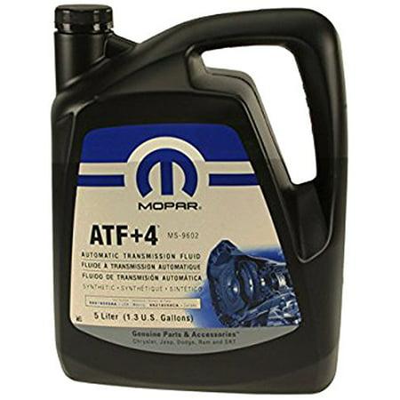 Automatic Transmission Fluid, 5 Liter(1) MOPAR ATF+4, 1 3