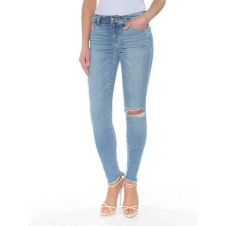 JOES Womens Blue Frayed Skinny Jeans  Size: 25 Waist