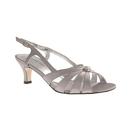 Women's David Tate Rosette Slingback Davids Bridal Dyeable Shoes