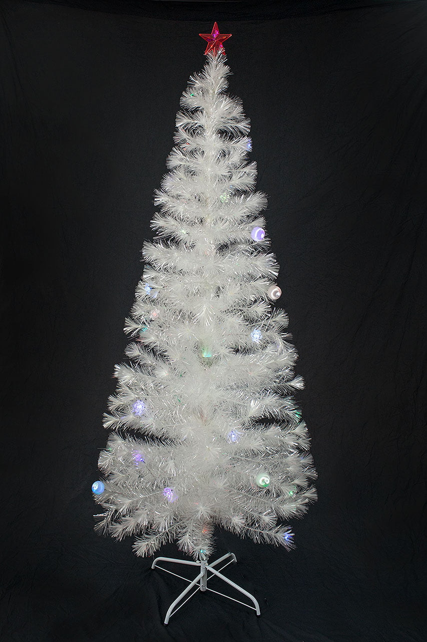 6.5 FT PRE-LIT MULTI COLOR LED FIBER OPTIC CHRISTMAS TREE - BRIGHT ...