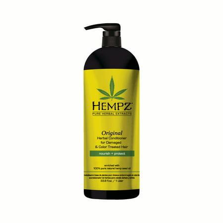 Original Herbal Hair Conditioner - Hempz Original Herbal Conditioner for Damaged & Color Treated Hair 33oz