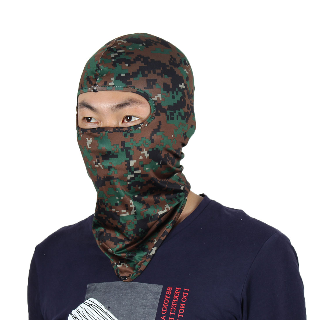 Full Coverage Face Mask Gel Padded Neck Protector Beanie Hood Helmet Balaclava by Unique-Bargains