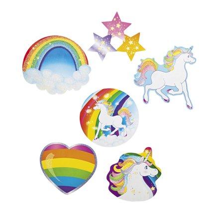 Unicorn Glitter Cutouts (6 - Unicorn Cutout