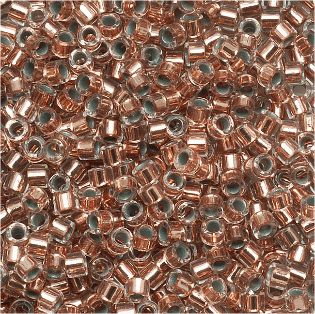 Miyuki Delica Seed Beads 15/0 Copper Lined Crystal DBS037 4 Grams