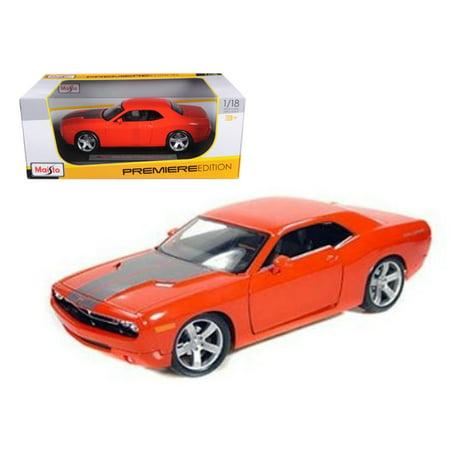 Orange Dodge Model - 2006 Dodge Challenger Concept Car Orange 1/18 Diecast Model Car by Maisto
