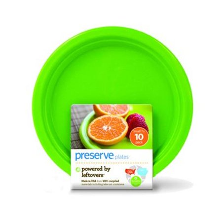 Reusable Green (Preserve 1210152 Plates  Reusable  Apple Green  Small  10 Pack  7 in - 10 Ct )