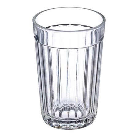 Russian Traditional 7.5 Oz Granyoniy Paneled Hot Tea Glass, fits Podstakannik Hot Wheels Whip Creamer