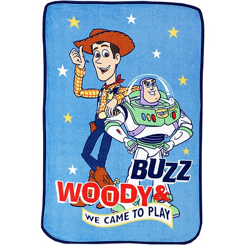 Disney Toy Story Buzz And Woody Plush Blanket Walmart Com