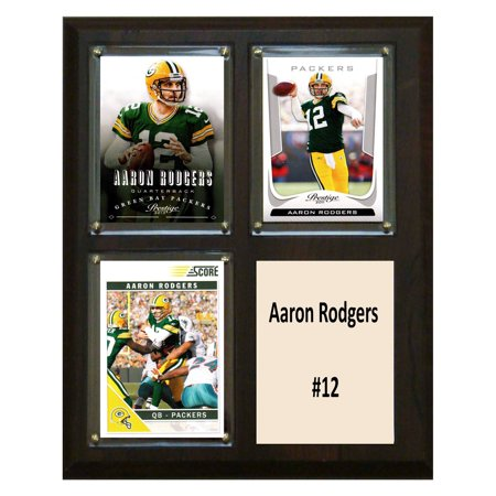 C Collectables Nfl 8X10 Aaron Rodgers Green Bay Packers 3 Card Plaque