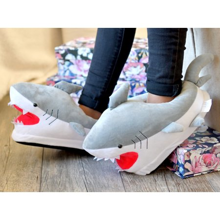 Shark Slippers Plush Soft Warm Winter Shoes Fluffy Unisex Cartoon Cute Tiburon Pantulas - Sofia The First Slippers