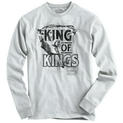 King Jesus Christ Christian T Shirt | Religious Gift God Hope Long Sleeve Tee