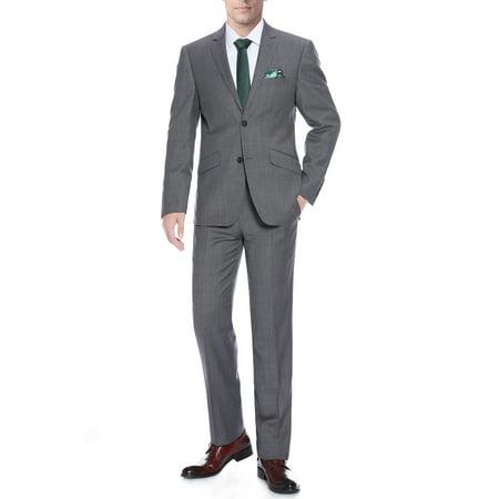 Men's 2-Piece Slim Fit 100% Premium Wool Suit