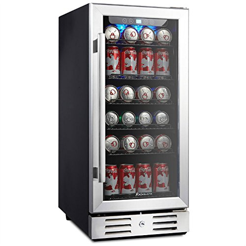 "Kalamera KRC-90BV 15"" Beverage Cooler Refrigerator 96 can built-in Single Zone Touch Control"