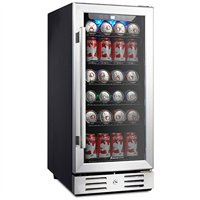 """Kalamera KRC-90BV 15"""" Beverage Cooler Refrigerator 96 can built-in Single Zone Touch Control"""