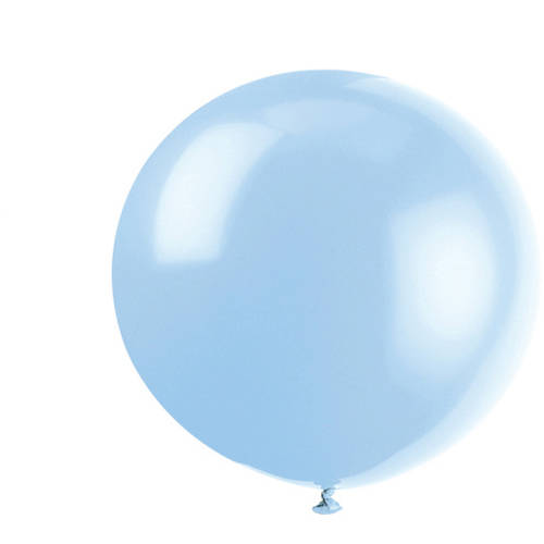 36'' Jumbo Latex Cool Blue Balloons, 6ct
