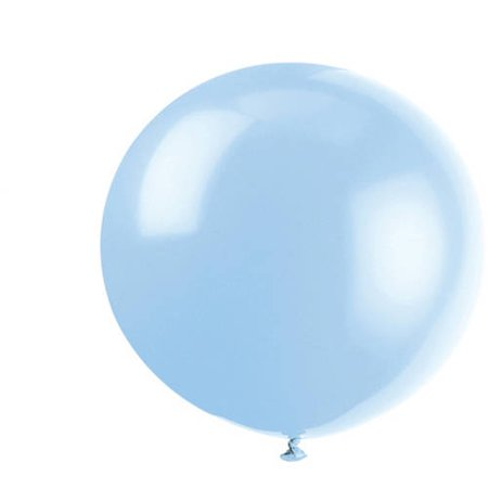 Latex Round Giant Balloons, 36 in, Cool Blue, 6ct - 36 Inch Polka Dot Balloons