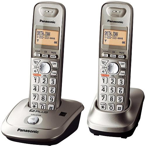 Panasonic KX-TG4012N DECT 6.0 Plus Expandable Cordless Phone w/ 2 Handsets