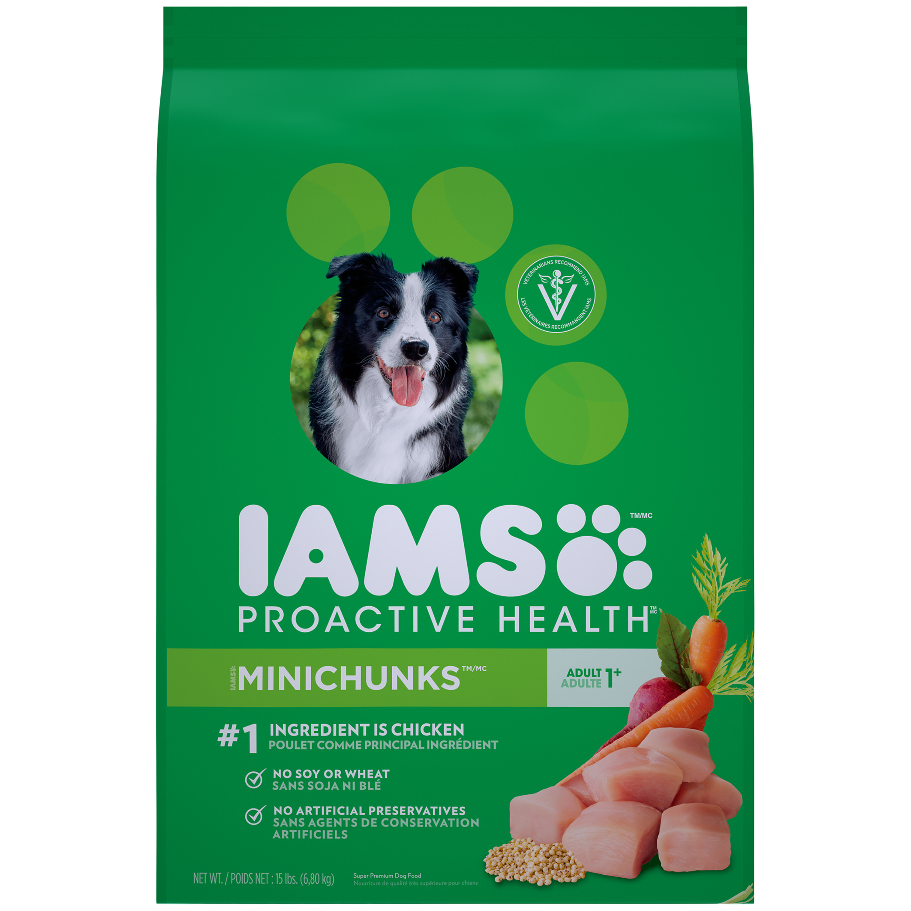 IAMS PROACTIVE HEALTH Adult Minichunks Dry Dog Food 15 Pounds