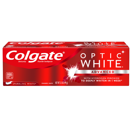 Colgate Optic White Whitening Toothpaste, Sparkling Mint - 3.5 oz (Sparkle Whitening)