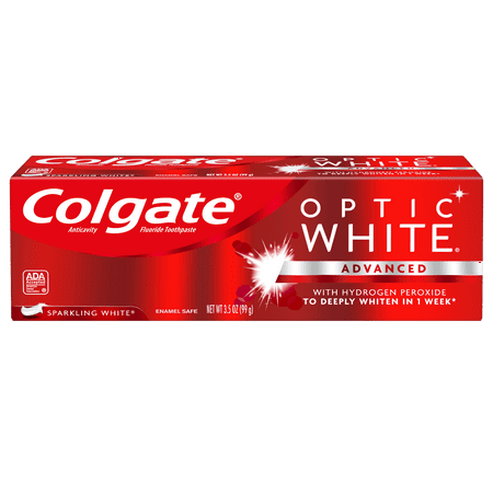 Colgate Optic White Whitening Toothpaste, Sparkling Mint - 3.5