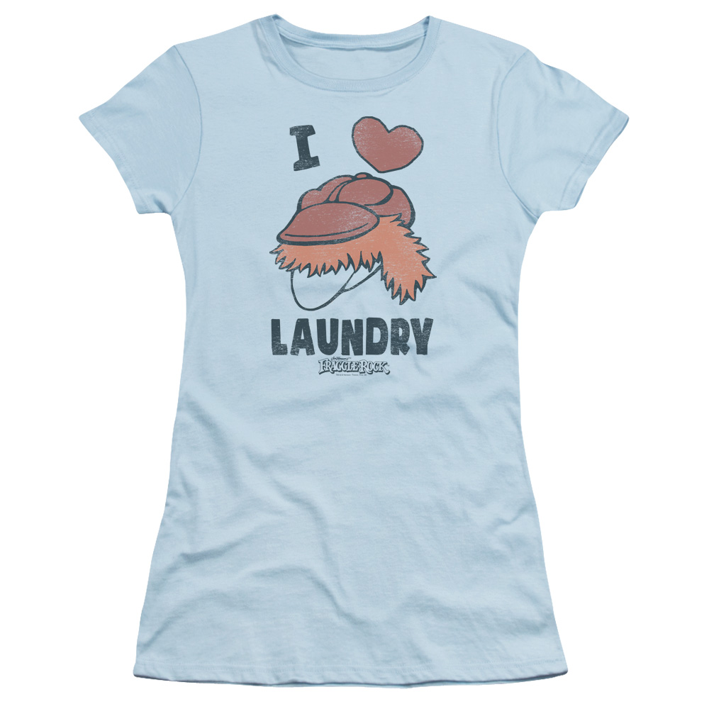 Fraggle Rock Laundry Lover Juniors Short Sleeve Shirt