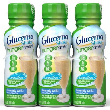 Glucerna Hunger Smart Shake  To Help Manage Blood Sugar  Homemade Vanilla  10 Oz  6Ct