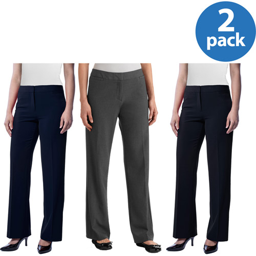 George Women's Classic Career Suiting Pant 2 Pack Value Bundle