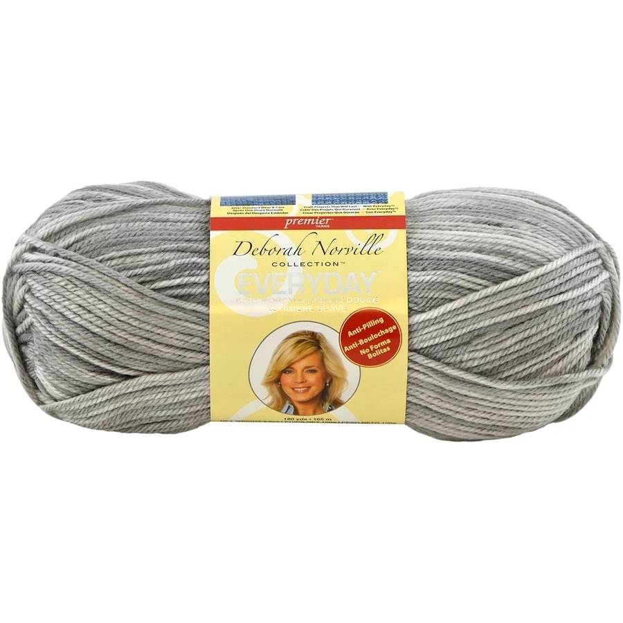 Deborah Norville Collection Everyday Print Yarn, Gray
