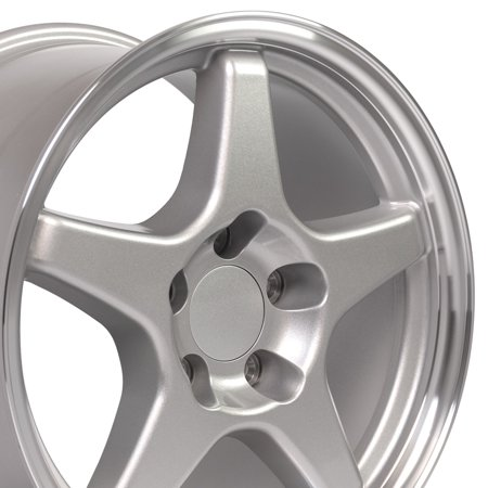 17 Camaro Zr1 Wheels (OE Wheels 17 Inch ZR1 Style | Fit Corvette Camaro | Silver Machined Lip 17x9.5 Rims SET Hollander 5035 )