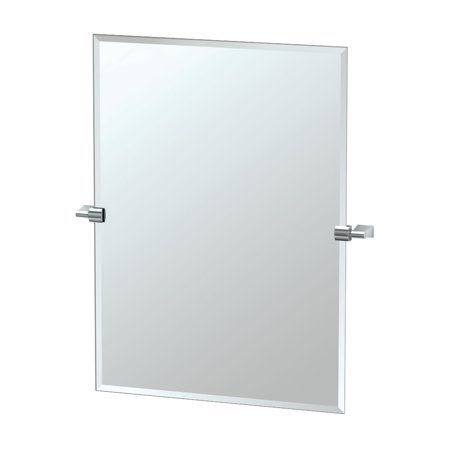 Gatco 4389S Bleu Rectangular Beveled Tilting Wall Mirror