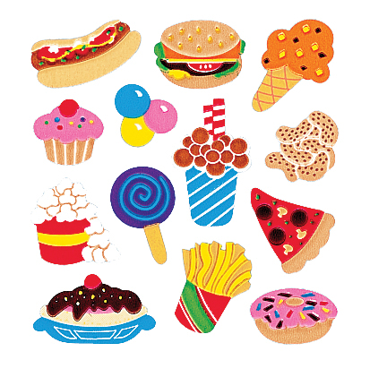SandyLion Classpak Stickers 3/Pkg-Junk Food