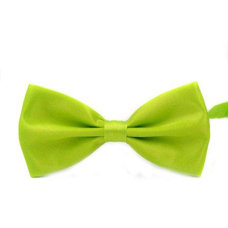 Men's Adjustable Wedding Party Bow Tie Solid Color Pre-Tied Bowtie (Pretied Wedding Cravat)