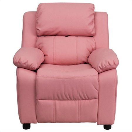 Bowery Hill Padded Kids Recliner in Pink - image 1 de 5