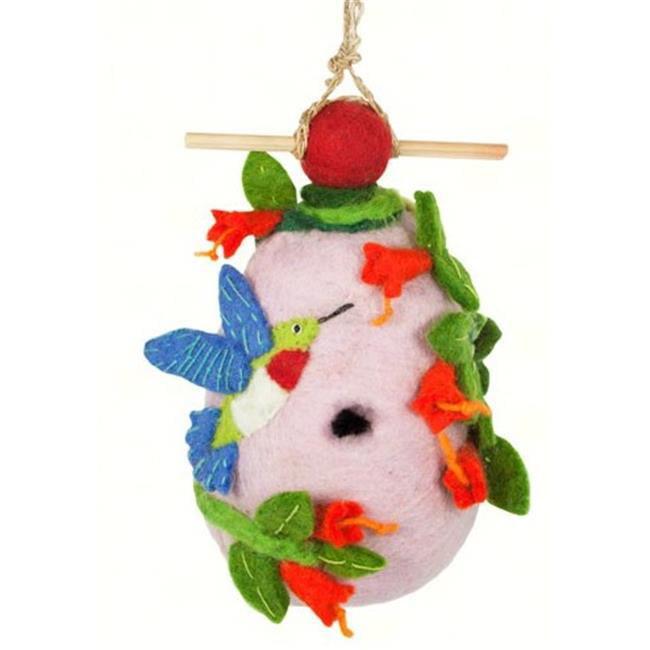 DZI Handmade Designs DZI484054 Hummingbird Felt Birdhouse by