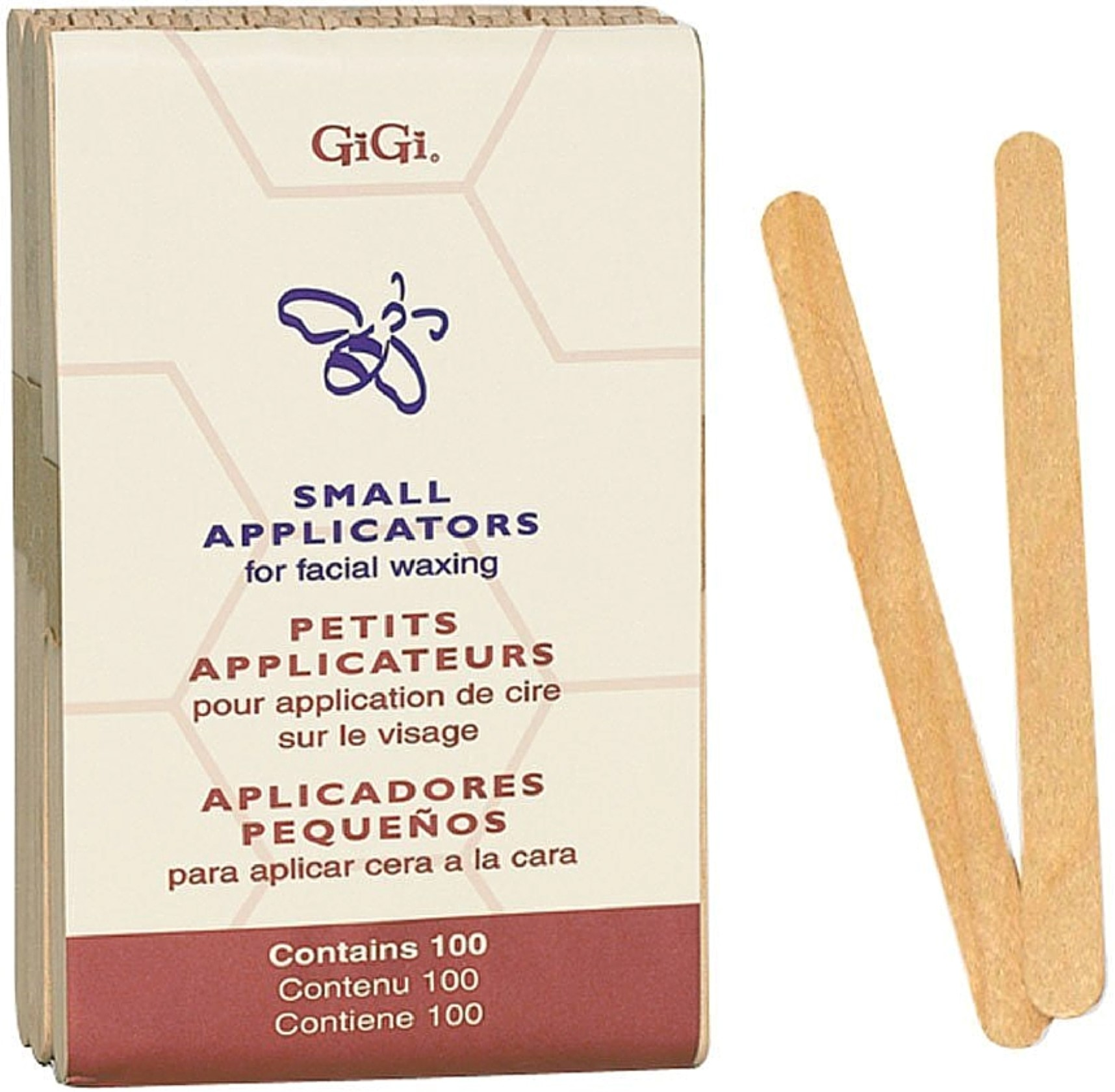 GiGi Small Applicators for Facial Waxing  100 ea