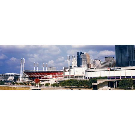 Stadium In A City Us Bank Arena Cincinnati Ohio Usa Canvas Art   Panoramic Images  12 X 36