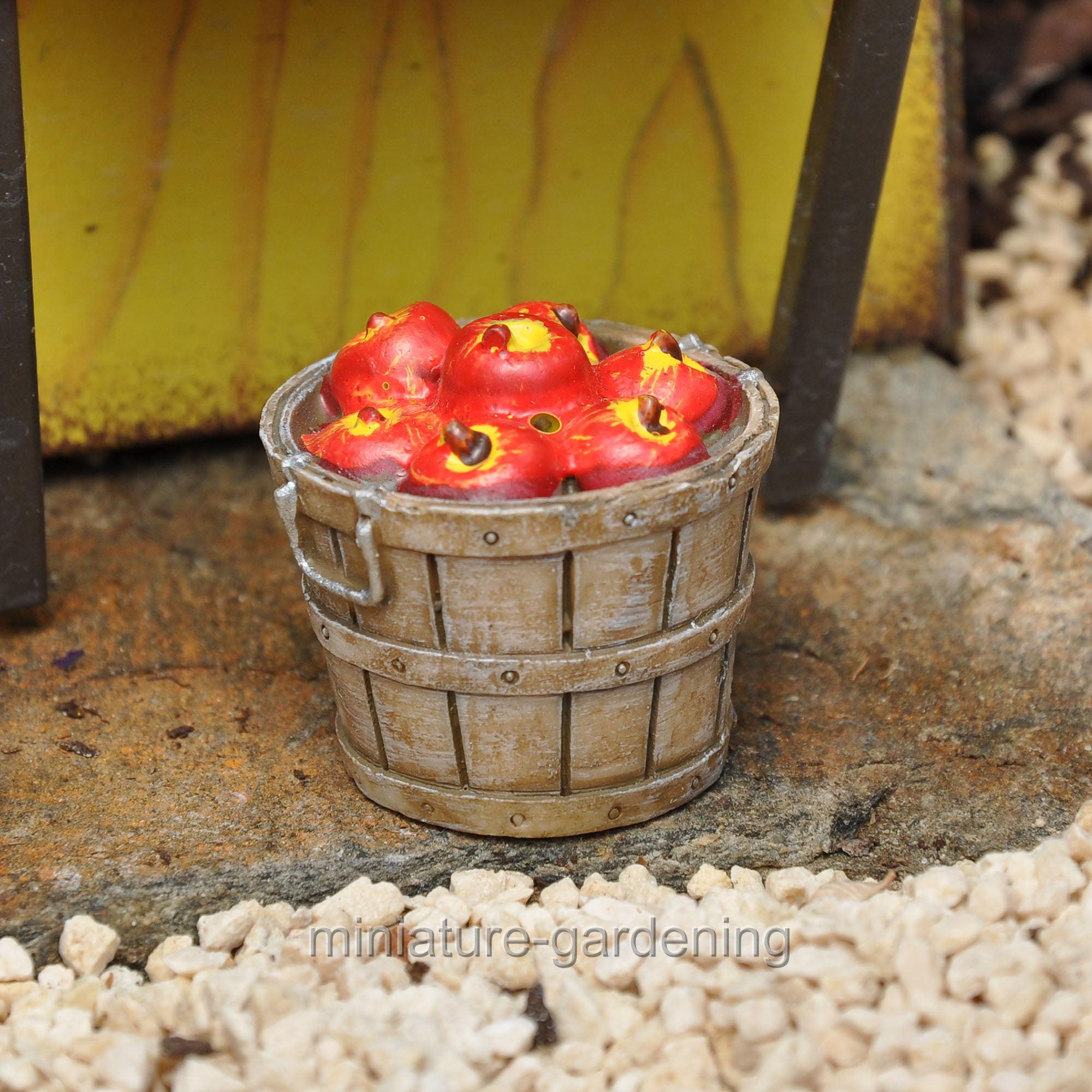 Wholesale Fairy Gardens Bushel of Apples for Miniature Garden, Fairy ...