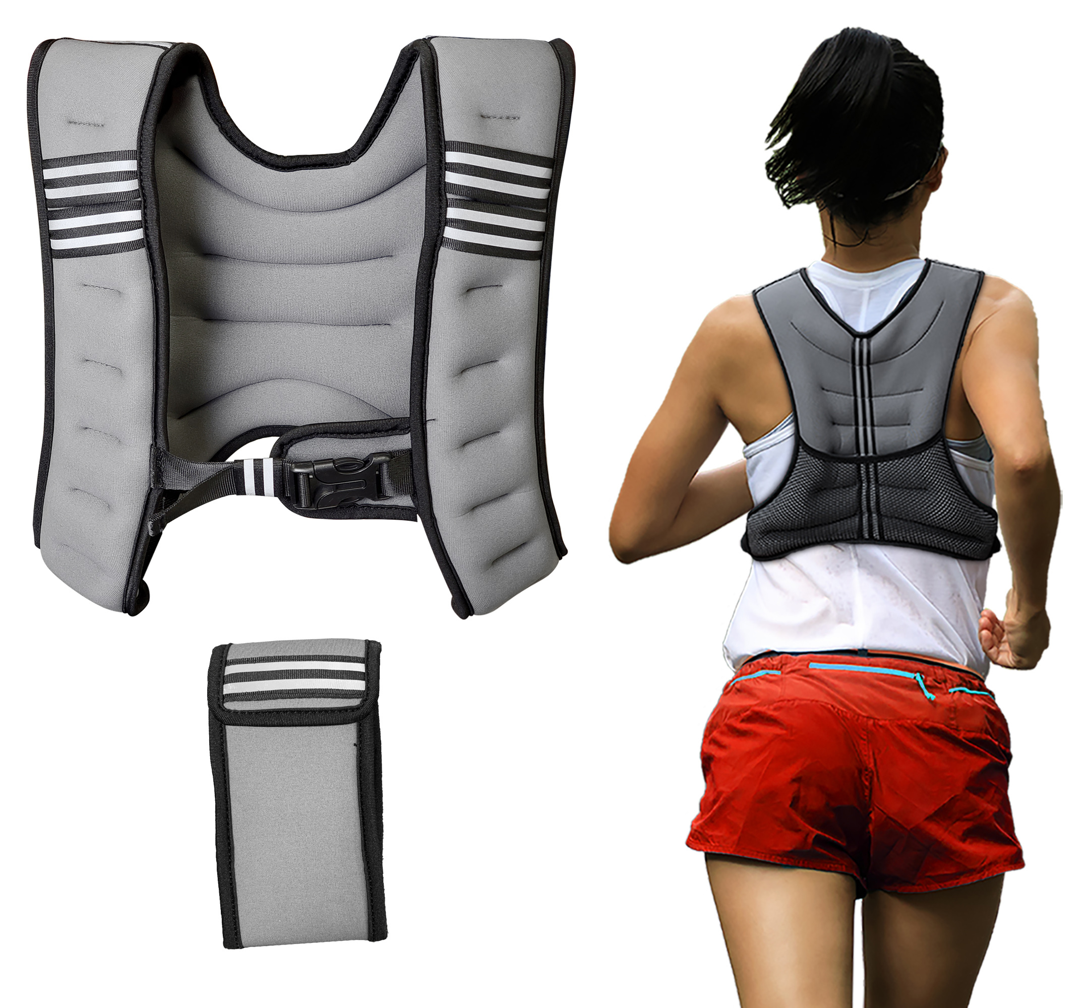 Weighted Exercise Vest Running Cardio Fitness with Weights 12 lbs for Women Men