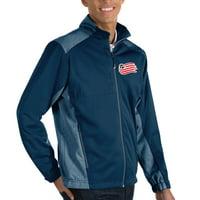 New England Revolution Antigua Revolve Big & Tall Full-Zip Jacket - Navy