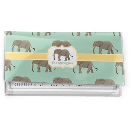 - Elephant Vinyl Check Book Cover (Personalized), Customizing Instructions: YOU WILL RECEIVE AN EMAIL WITH A LINK TO DESIGN YOUR PRODUCT WITHIN 1 HOUR (Approve Your.., By RNK Shops