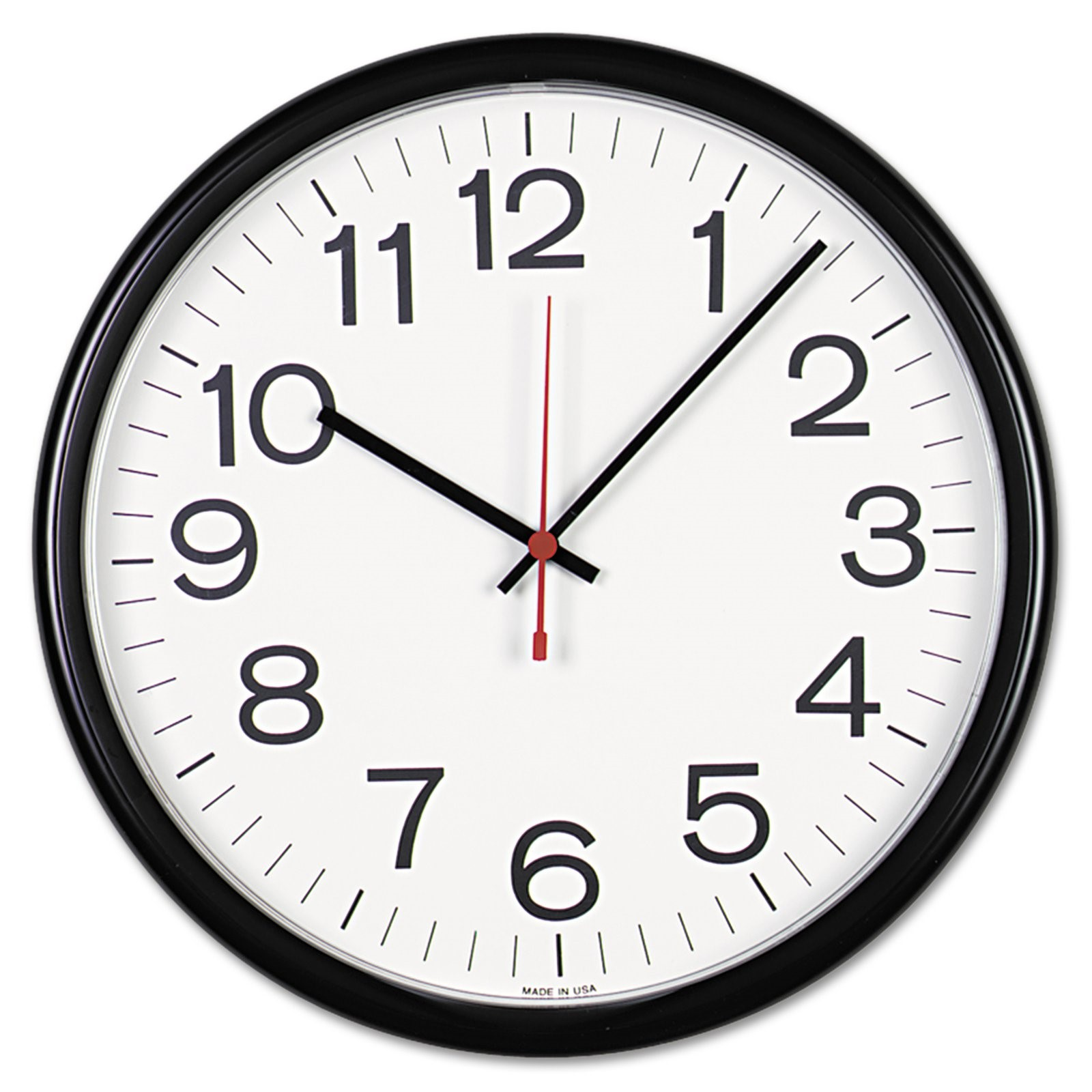 Universal Indoor Outdoor Clock, 13 1 2\ by Universal Office Products