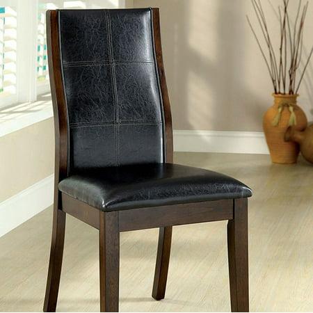 Toronto Transitional Side Chair, Dark Oak Finish, Set of 2 ()