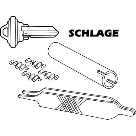 Prime-Line  No. 5  Metal  Re-Keying Kit  1 - Rekeying Parts