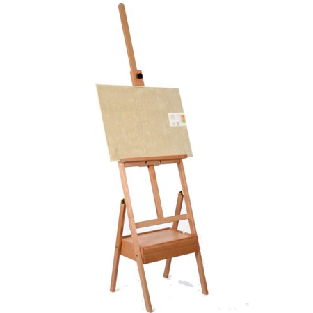 - Ktaxon 5' Tripod Easel Stand with Drawer, Adjustable Beech Wood 59