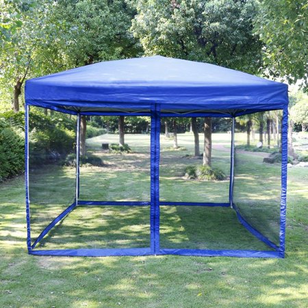 VIVOHOME Outdoor EZ Pop Up Canopy Screen Party Tent with Mesh Side Walls 10 x 10 ft -